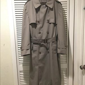 Men London Fog Trench Coat Size 42 Regular Beige